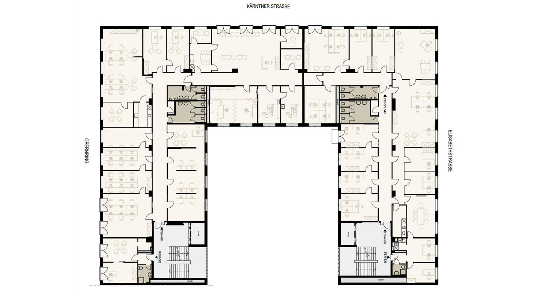 Opernringhof Gebaeudeplan